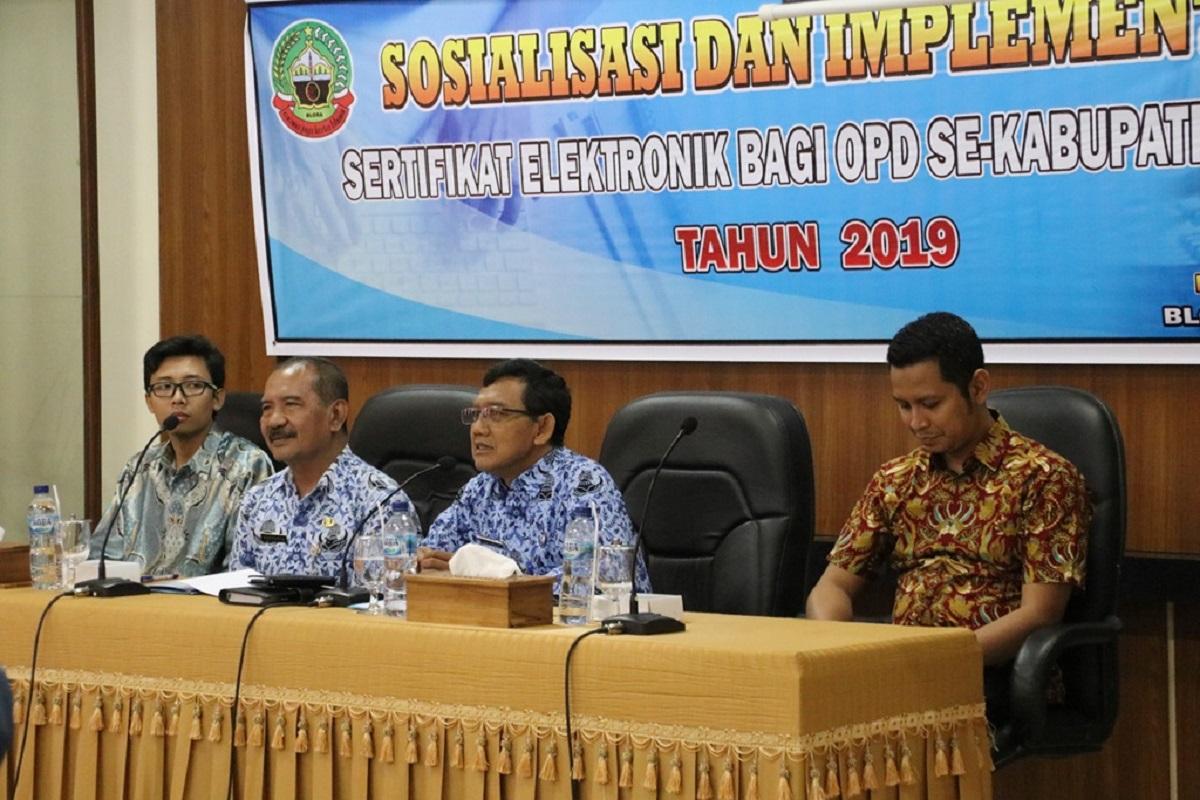 Sosialisasi dan Implementasi Sertifikat Elektronik Bagi OPD Blora