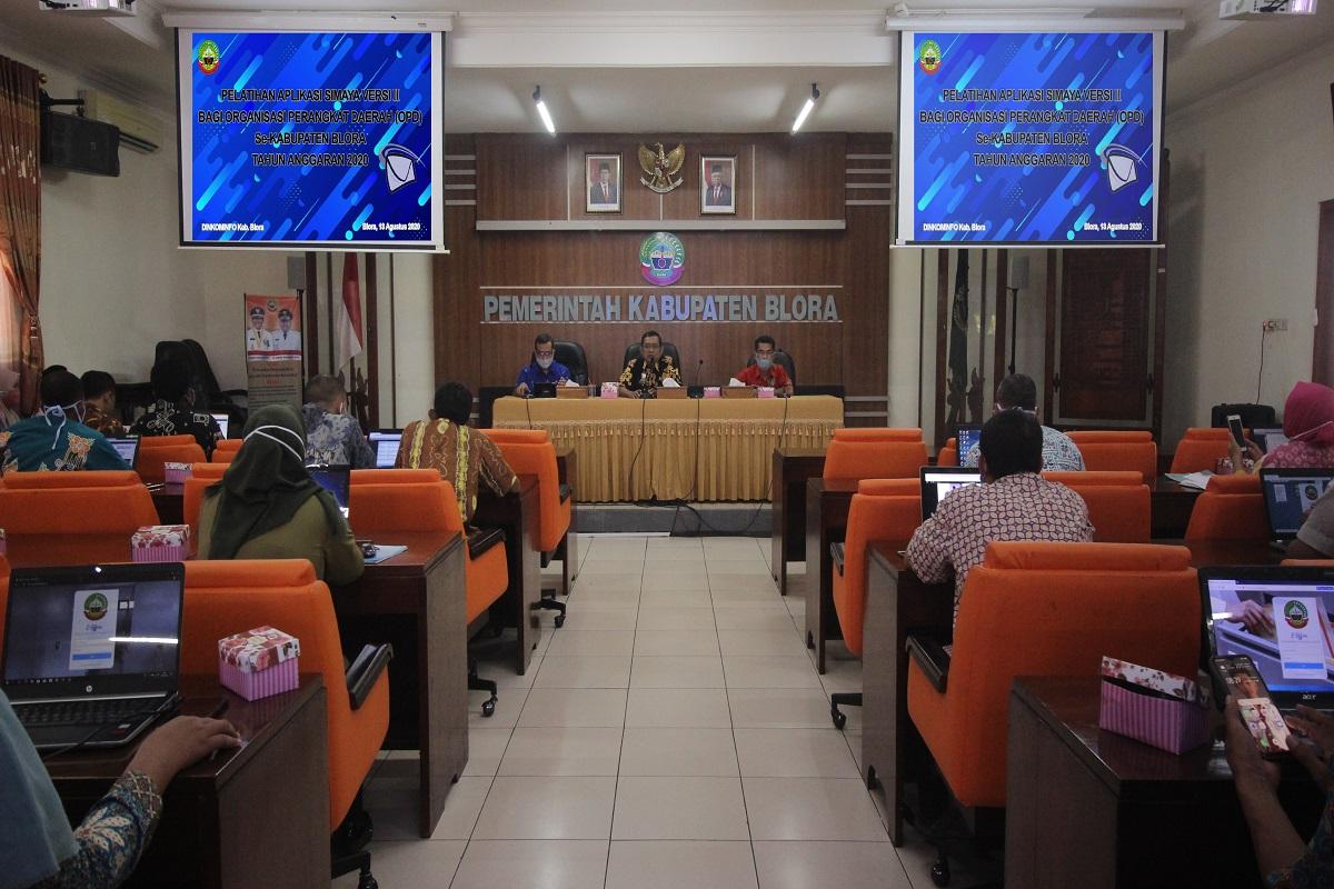 Sosialisasi dan Pelatihan Aplikasi Simaya Versi ll Kepada Admin OPD
