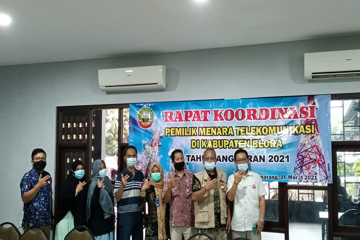Rakor Pemilik Menara Komunikasi di Kabupaten Blora Tahun 2021